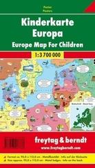 Kinderkarte Europa; Map for Children, Europe