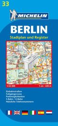 Michelin Karte Berlin, Stadtplan und Register