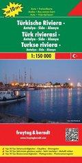 Freytag & Berndt Autokarte Türkische Riviera; Türk rivierasi; Turkse riviera; Turkish Riviera; Riviera turque; Riviera t