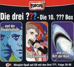 Die drei Fragezeichen, Die 10. Box, Folge 28-30, 3 Audio-CDs