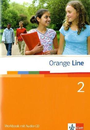 Orange Line: Klasse 6, Workbook m. Audio-CD; Bd.2