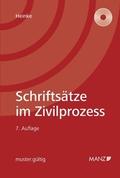 Schriftsätze im Zivilprozess (f. Österreich), m. CD-ROM