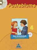 Pusteblume, Das Sprachbuch, Ausgabe 2006 Mitte / Nord: 4. Schuljahr, Das Arbeitsheft, m. CD-ROM