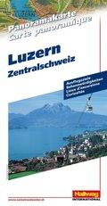 Hallwag Panoramakarte Luzern, Zentralschweiz; Lucerne, Central Switzerland