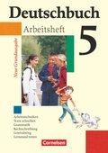 Deutschbuch, Neue Grundausgabe: 5. Schuljahr, Arbeitsheft