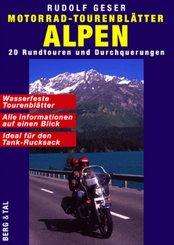 Motorrad-Tourenblätter Alpen, 20 Bl.