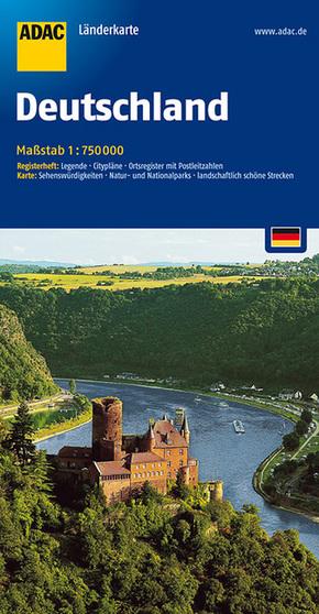 ADAC Karte Deutschland (1 : 750.000)