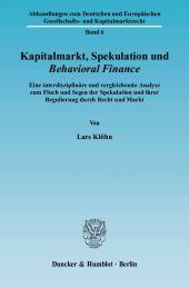 Kapitalmarkt, Spekulation und Behavioral Finance.