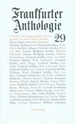 Frankfurter Anthologie - Bd.29