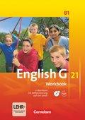 English G 21, Ausgabe B: 5. Schuljahr, Workbook mit CD-ROM und Audios online; Bd.1