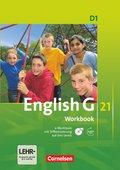 English G 21, Ausgabe D: 5. Schuljahr, Workbook mit CD-ROM und Audios online; Bd.1
