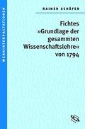Johann Gottlieb Fichtes 'Grundlage der gesammten Wissenschaftslehre' von 1794