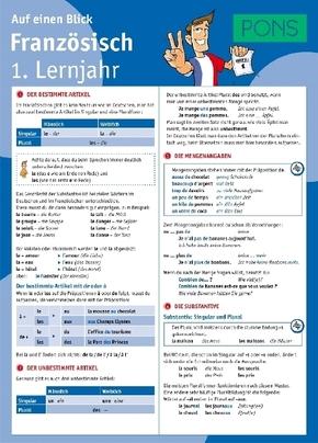 PONS Französisch 1. Lernjahr auf einen Blick