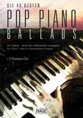 Die 40 besten Pop Piano Ballads, m. 2 Audio-CDs - Bd.1