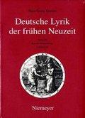 Hans-Georg Kemper: Deutsche Lyrik der frühen Neuze: Barock - Humanismus: Liebeslyrik; Band 4/2 - Tl.2