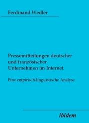 Pressemitteilungen deutscher und französischer Unternehmen im Internet