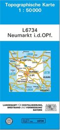 Topographische Karte Bayern Neumarkt i. d. OPf.
