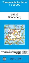 Topographische Karte Bayern Sonneberg