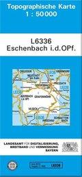 Topographische Karte Bayern Eschenbach i. d. OPf.