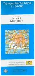 Topographische Karte Bayern München
