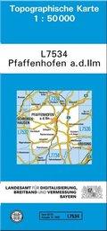 Topographische Karte Bayern Pfaffenhofen a. d. Ilm