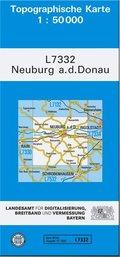 Topographische Karte Bayern Neuburg a. d. Donau
