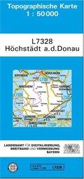 Topographische Karte Bayern Höchstädt a. d. Donau
