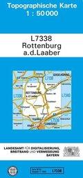 Topographische Karte Bayern Rottenburg a. d. Laaber