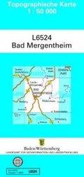 Topographische Karte Baden-Württemberg, Zivilmilitärische Ausgabe - Bad Mergentheim