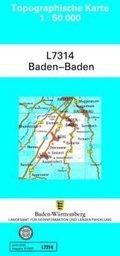 Topographische Karte Baden-Württemberg, Zivilmilitärische Ausgabe - Baden-Baden