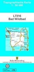 Topographische Karte Baden-Württemberg, Zivilmilitärische Ausgabe - Bad Wildbad