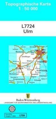 Topographische Karte Baden-Württemberg, Zivilmilitärische Ausgabe - Ulm