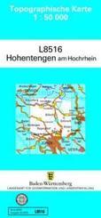 Topographische Karte Baden-Württemberg, Zivilmilitärische Ausgabe - Hohentengen am Hochrhein