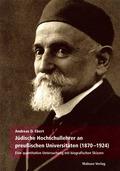 Jüdische Hochschullehrer an preußischen Universitäten 1870-1924