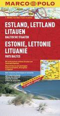 Marco Polo Karte Estland, Lettland, Litauen; Estonie, Lettonie, Lituanie; Estonia, Latvia, Lithuania