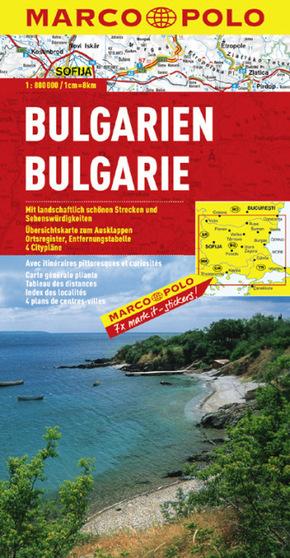 Marco Polo Karte Bulgarien; Bulgarie / Balgarija / Bulgaria