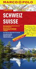 Marco Polo Karte Schweiz; Suisse / Svizzera / Switzerland