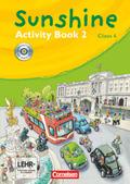 Sunshine, Allgemeine Ausgabe: 4. Schuljahr, Activity Book m. CD-ROM; Bd.2