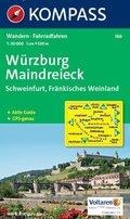 KOMPASS Wanderkarte Würzburg - Maindreieck - Schweinfurt - Fränkisches Weinland