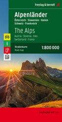Alpenländer, Autokarte 1:800.000