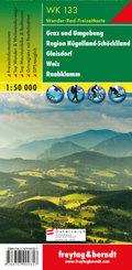 WK 133 Graz und Umgebung - Region Hügelland-Schöcklland - Gleisdorf - Weiz - Raabklamm, Wanderkarte 1:50.000