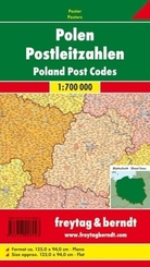 Freytag & Berndt Poster Polen, Postleitzahlen, ohne Metallstäbe; Poland, Post Codes