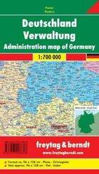 Freytag & Berndt Poster Deutschland, Verwaltung, ohne Metallstäbe; Administration map of Germany