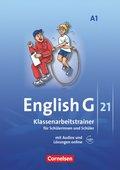 English G 21, Ausgabe A: 5. Schuljahr, Klassenarbeitstrainer mit Lösungen und Audios online; Bd.1