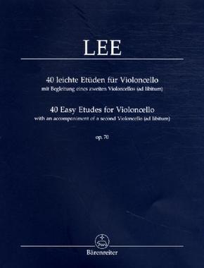 40 leichte Etüden für Violoncello op.70, mit Begleitung eines zweiten Violoncellos (ad libitum) - 40 Easy Etudes for Violincello op.70, with an accompaniment of a second Violoncello (ad libitum)