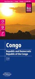 Reise Know-How Landkarte Republik und Demokratische Republik Kongo; Republic & Democratic Republic of the Congo; Républi