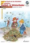 Die schönsten Herbst- & Winterlieder, für 2 Sopranblockflöten, m. Audio-CD