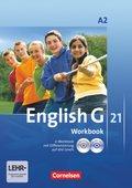 English G 21, Ausgabe A: 6. Schuljahr, Workbook mit CD-ROM und Audios online; Bd.2