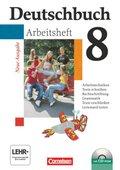 Deutschbuch, Gymnasium Allgemeine Ausgabe, Neue Ausgabe: 8. Schuljahr, Arbeitsheft m. CD-ROM