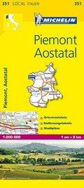 Michelin Karte Piemont, Aostatal; Piemonte, Valle d' Aosta